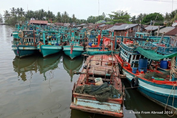 Collection of fishing boats