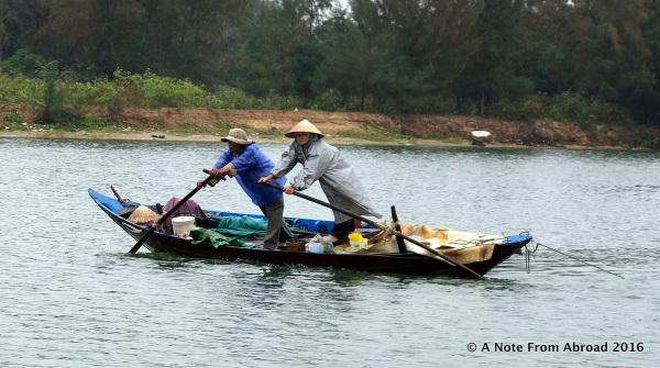 Rowing the boat sideways