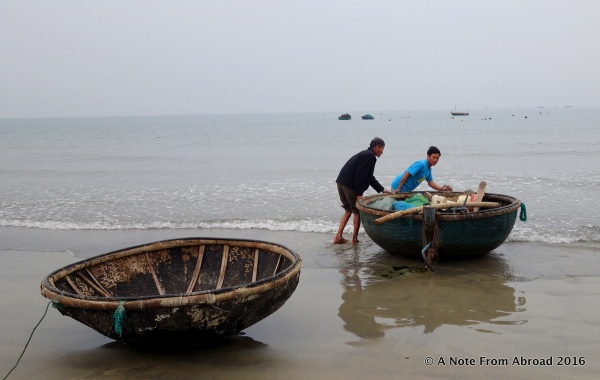 Woven bamboo boats