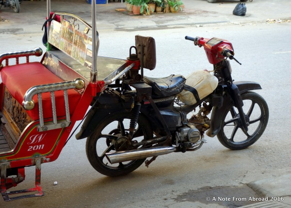 Check out the gas tank on our Tuk Tuk