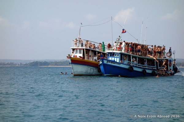 Two party boats that were dangerously over loaded
