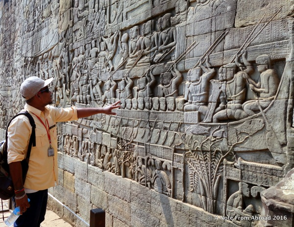 Wall after wall of intricately carved features told stories of battles, religion and customs