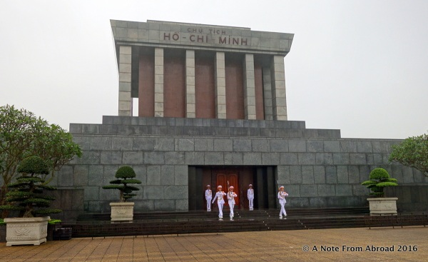 Ho Chi Minh Mausoleum - changing of the guard ceremony