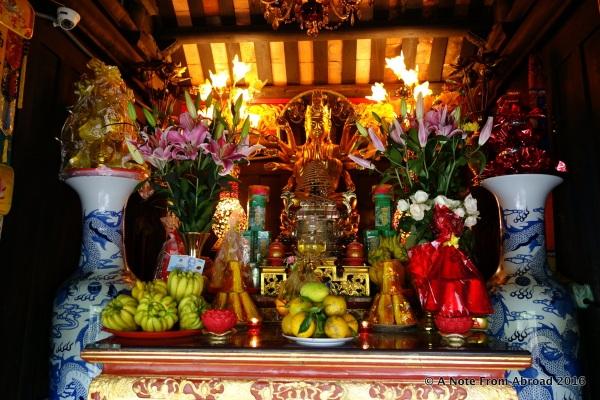 Interior of One Pillar Pagoda