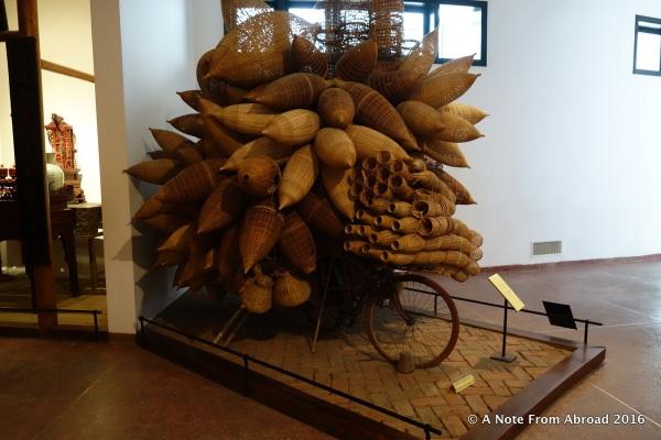 Bike carrying fish traps