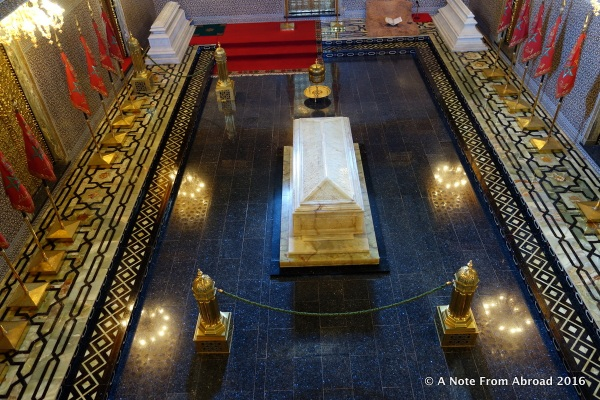 Where King Mohammed V is buried