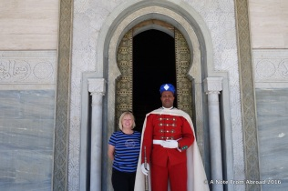 Joanne with one of the guards