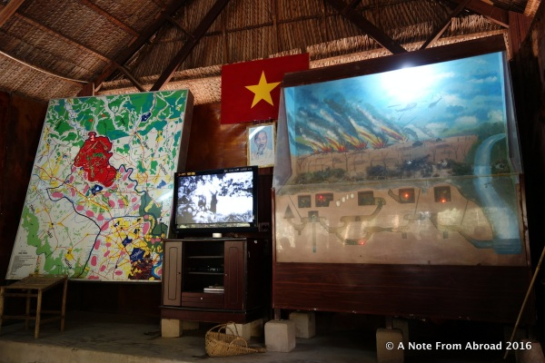 Media room where the propaganda film was played