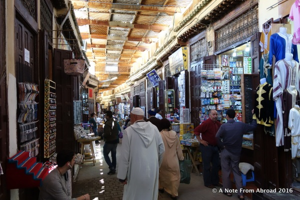 Inside the medina in Fez