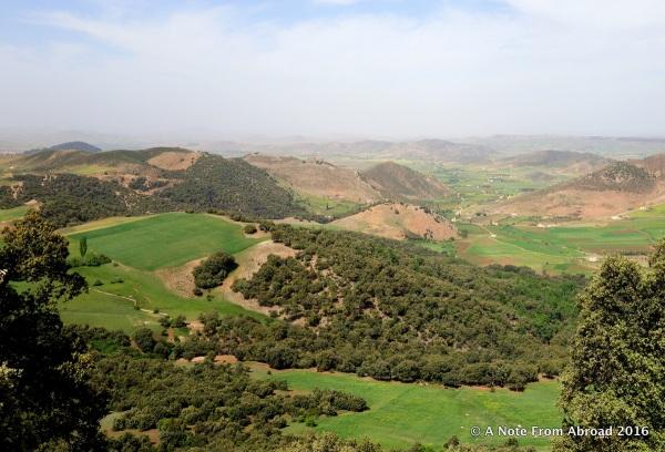 Scenic overlook of the valley below