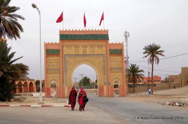 Entry gates to Rissani