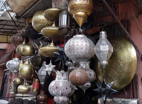 Lamp offerings similar to what was seen in the Grand Bazar in Istanbul