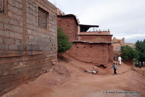 Clay adobe and brick homes. Many still under construction.