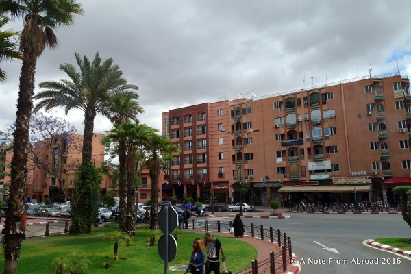 Modern and new part of Marrakesh