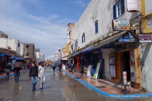 Main street through the medina of Ess after a rainstorm