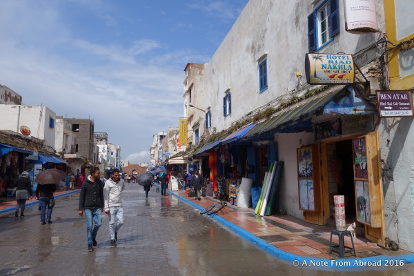 Main street through the medina of Ess after a rainstorm
