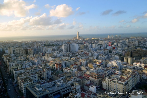 The city of Casablanca at our feet