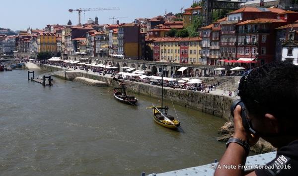 Crossing over the bridge you can see the Cais da Ribeira area