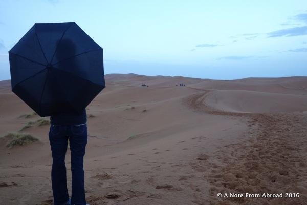 Umbrella on the dunes