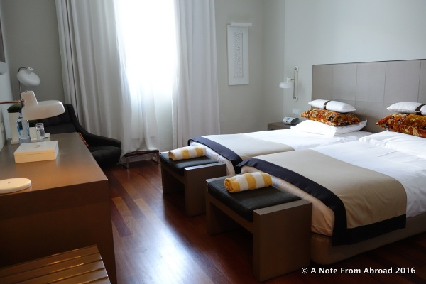 Our hotel room in Evora at the Mar