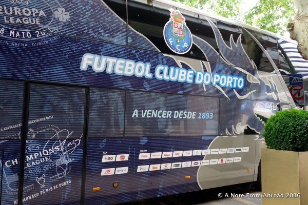 Porto Soccer team bus