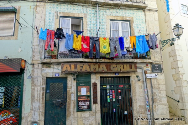 The colorful Alfama area populated with working class people