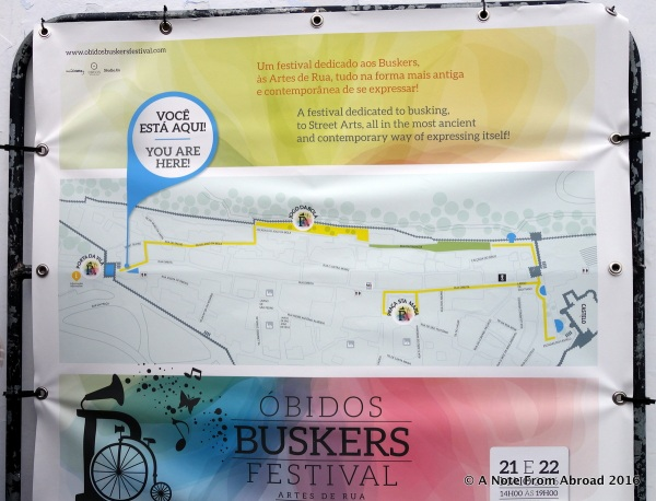 Street map of Obidos. Small and it would be very difficult to get lost here!
