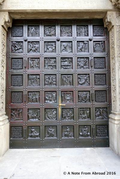 Entrance doors to Grossmunster