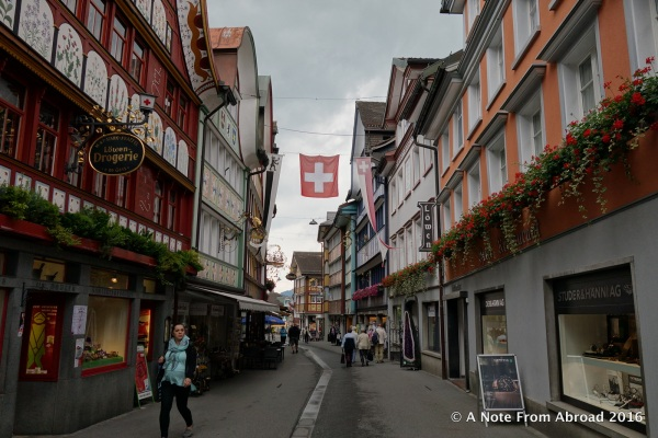 Appenzell's colorful and oh so authentic buildings in town