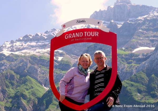 "Back at the bottom now. Yep, this is our ""Grand Tour"" of Switzerland!"
