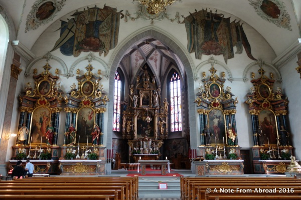 Interior of St. Mauritius Church