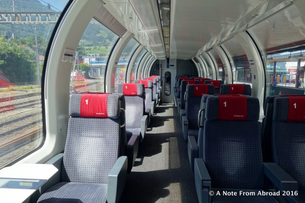 We had the first class car almost entirely to ourselves