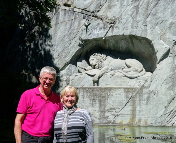 Tim and Joanne at the Lion Monument