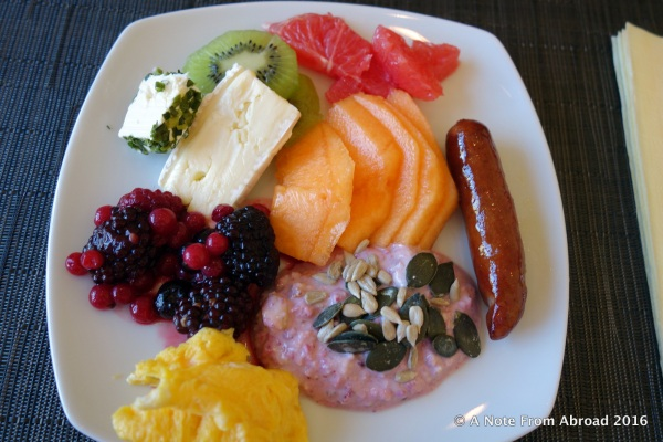 Colorful and tasty breakfast got me started on the right foot