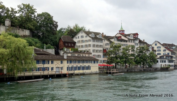 View of Schipfe Restaurant from across the river.