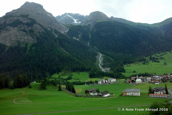 Traveling on the Glacier Express to Zermatt