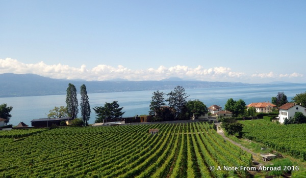 Traveling via rail from Lausanne to Murren (going past Lake Geneva)