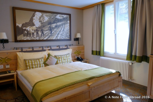 Our hotel room at the Hotel Eiger in Murren