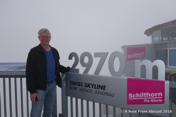 At the peak, Schilthorn