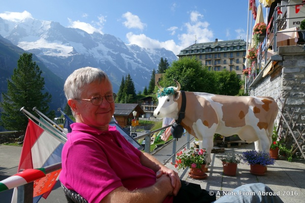 Tim enjoying our final moments in Murren