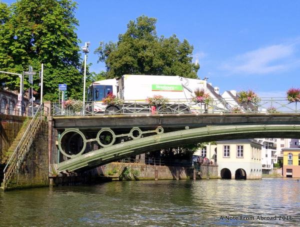 Garbage trucks used as a blockade
