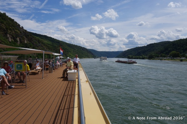 View from the sundeck on the River Queen
