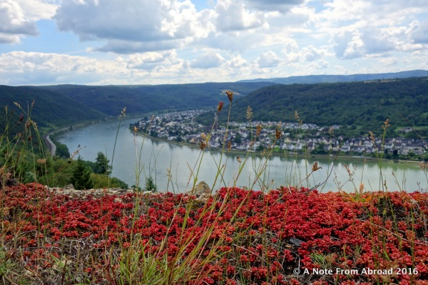 View of Koblenz and Rhine River taken from Marksburg Castle