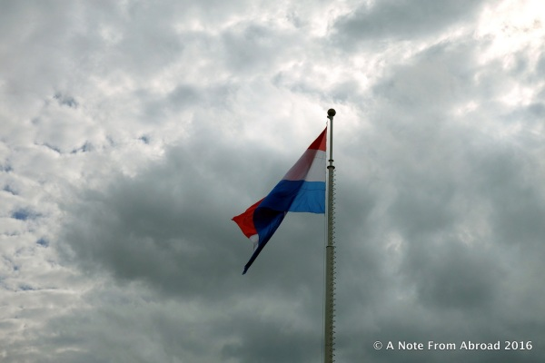 The flag of Luxembourg