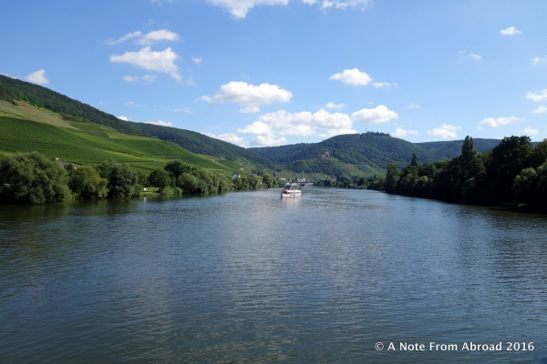 From the sundeck, cruising down the Moselle!