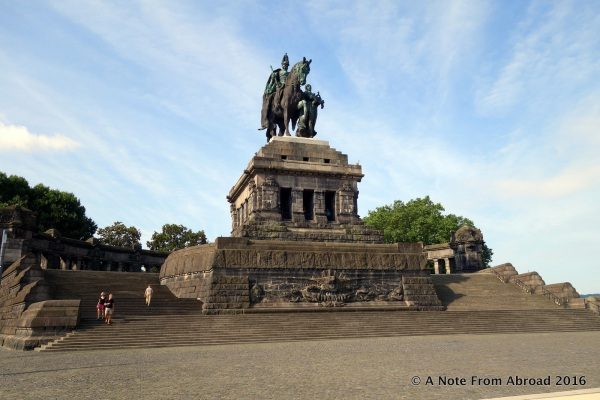 "Monument at Deutsches Eck (""German Corner"")"