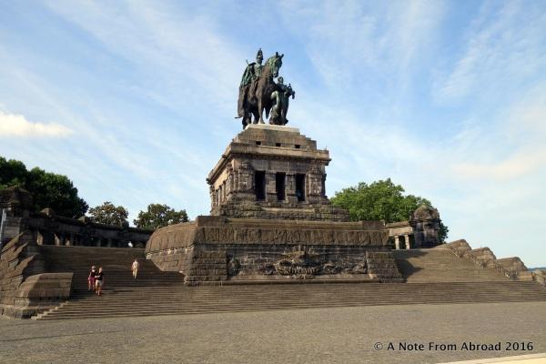 """Monument at Deutsches Eck (""""German Corner"""")"""