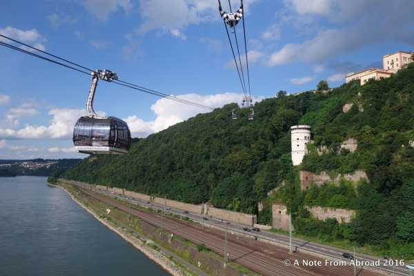 Koblenz Cable Car ride across the Rhine River