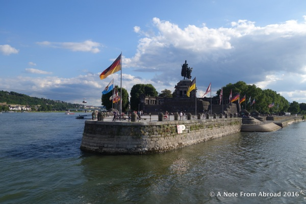 Confluence of the Rhine River and the Moselle River