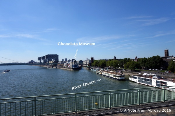 Our ship was only a five minute walk from the Chocolate Museum
